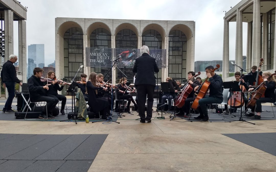 Mountain Laurel High School Ensemble Performs at Lincoln Center Plaza