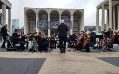 High School Ensemble Performs at Lincoln Center Plaza